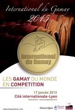 La 5ème édition du Concours International du Gamay se déroulera le 17 janvier 2015 à la Cité Internationale de Lyon.  Cette année une nouveauté a été mise en place : le trophée du Meilleur Gamay du Monde  sera remis à la suite d'une dégustation réalisée par un « grand jury », et le lauréat recevra un trophée lors de la remise des diplômes.  Depuis l'année dernière le concours est agréé par la DGCCRF (Ministère de l'Economie et des Finances) et est certifié ISO 9001 par le biais d'ARMONIA, société organisatrice.  Le concours s'adresse aux producteurs du monde entier dont les vins sont élaborés à partir du cépage Gamay (au minimum 85%).  Après dégustation d'un jury composé d'experts et de professionnels du vin, le Concours International du Gamay récompensera les vins incarnant le mieux les qualités de ce cépage. Les producteurs ont encore la possibilité de s'inscrire et ce jusqu'au 26 décembre en remplissant un formulaire directement sur le site du concours: http://www.concoursgamay.com/espace/inscription-pro.php.  Les résultats du concours seront dévoilés le 21 janvier 2015.