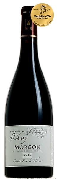 The Morgon 2017 Fût de Chêne cuvée  from the Franck Chavy Domain  elected 'World's Best Gamay'